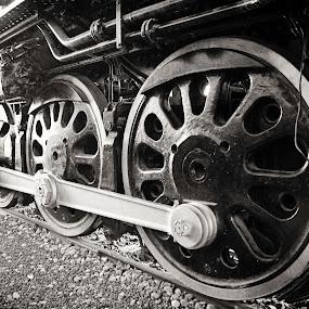 Train wheels by Kristi Parker - Transportation Trains
