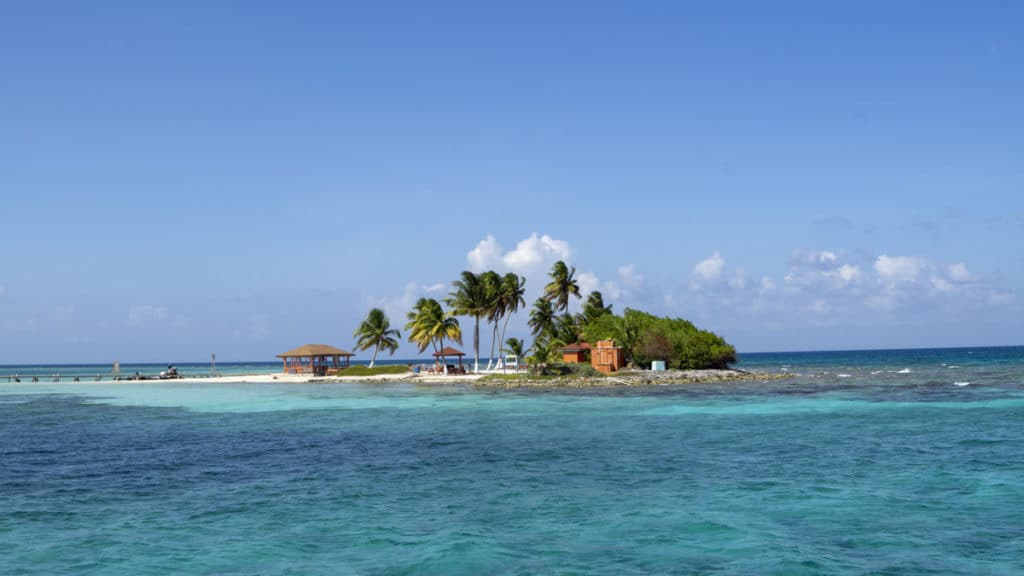small tropical island in belize