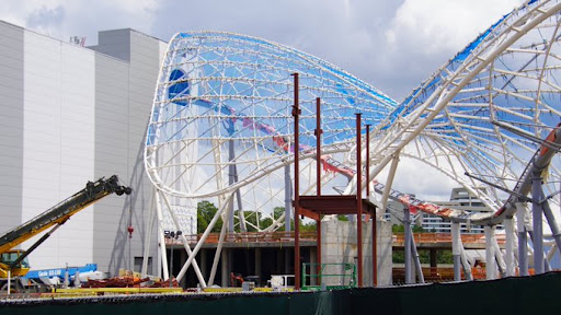 New structural work being done on Tron Lightcycle Run