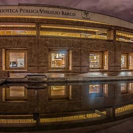Surrealistic Ship  by Andrius La Rotta Esquivel - Buildings & Architecture Public & Historical ( amazing, library, architectural detail, buildings, architectural, night shot, photography, architecture, night photography )