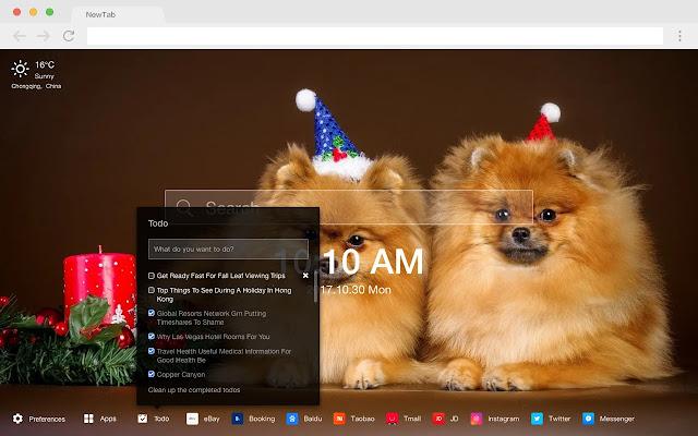 Puppy pop pet HD wallpaper new tab page theme