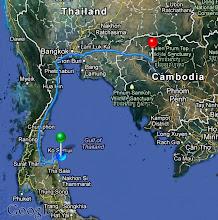 Photo: From Ko Samui, Thailand to Siem Reap, Cambodia.