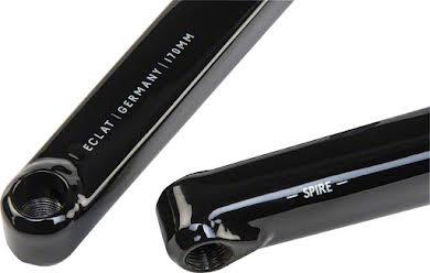 Eclat Spire 2-piece Crankset 22mm RHD/LHD No Bottom Bracket Black alternate image 1