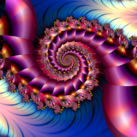 Spiral 57 by Cassy 67 - Illustration Abstract & Patterns ( digital, love, harmony, surreal, abstract art, trippy, abstract, creative, fractals, digital art, psychedelic, modern, light, fractal, style, energy, fashion )
