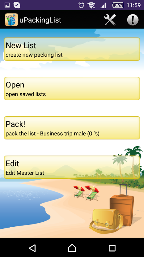 uPackingList- screenshot
