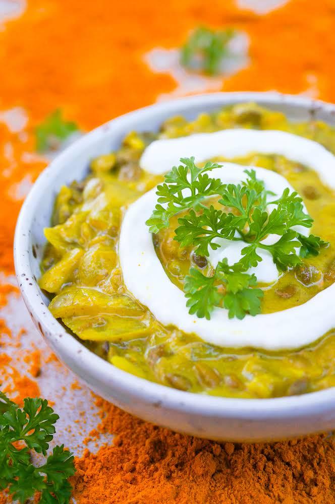 Immunity Boosting Indian-Spiced Lentil Soup (Gluten Free, Vegan)