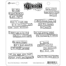 Dylusions Cling Stamps 8.5X7 - Old Is The New Black