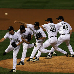 Rockies Pitcher by Jud Joyce - Sports & Fitness Baseball ( baseball, colorado, sports, photoshop )