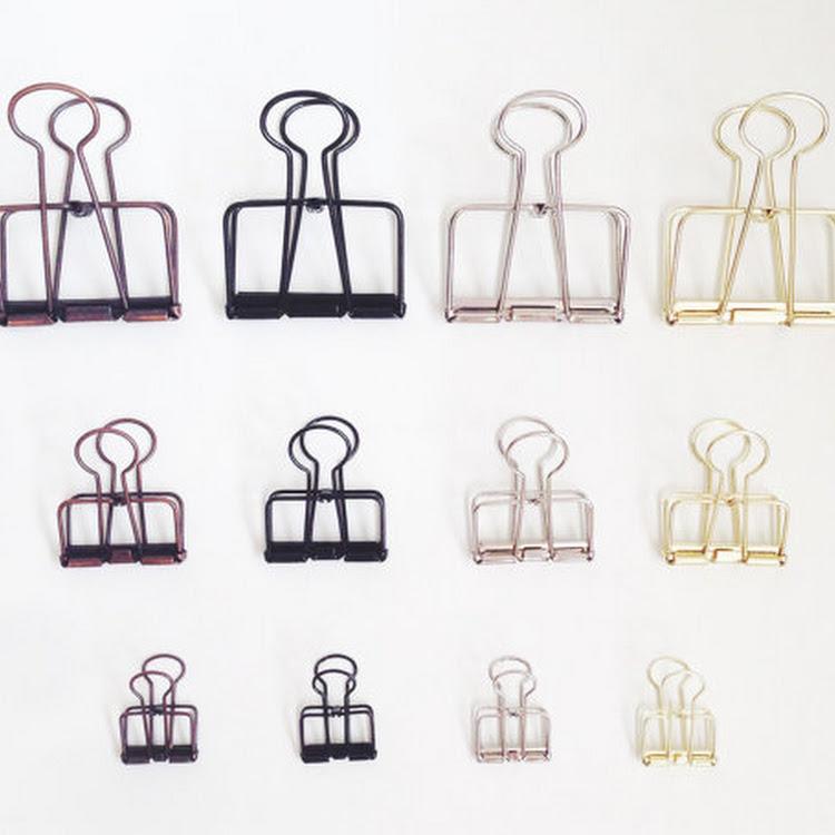 Vintage Binder Clips by Pipit Zakka Store
