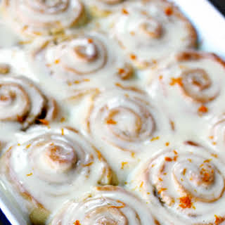 Cake Mix Orange Sweet Rolls.