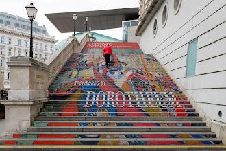 Photo: Vienna Art Museum staircase.