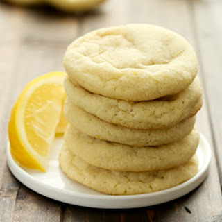 Soft and Chewy Lemon Sugar Cookies.
