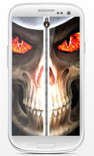 Horror Skull Zip screen lock