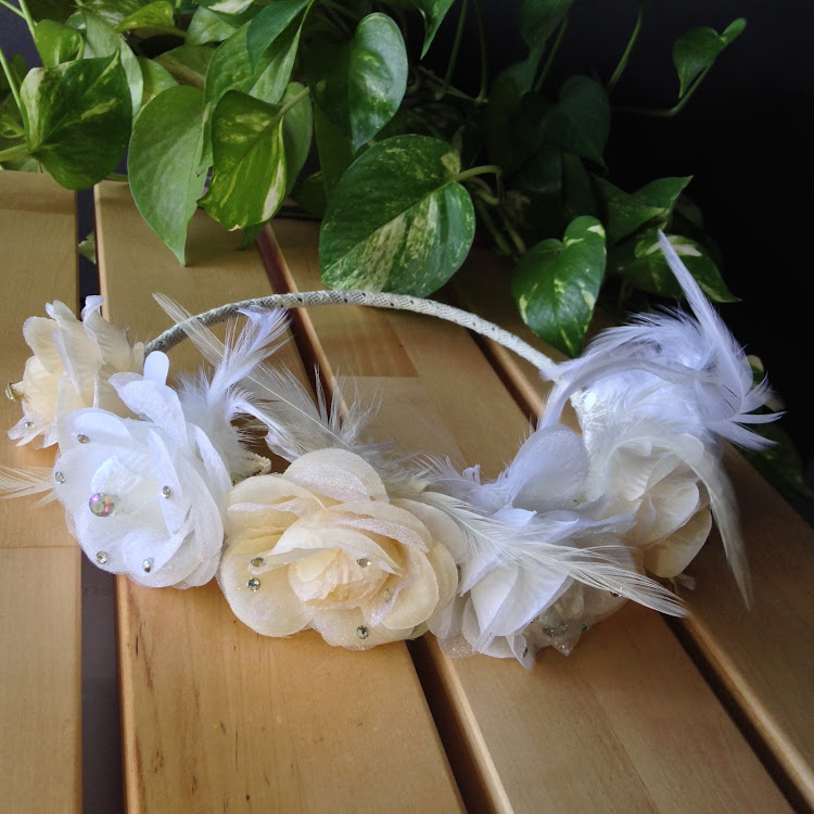 Six Roses Feather Bridal Headpiece by Style Me Pretty