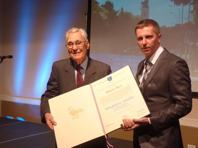 Dodjela Nagrade grada Jastrebarskog za životno djelo Mirku Kosu