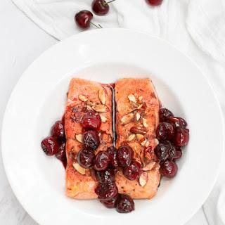 Almond Cherry Seared Salmon.