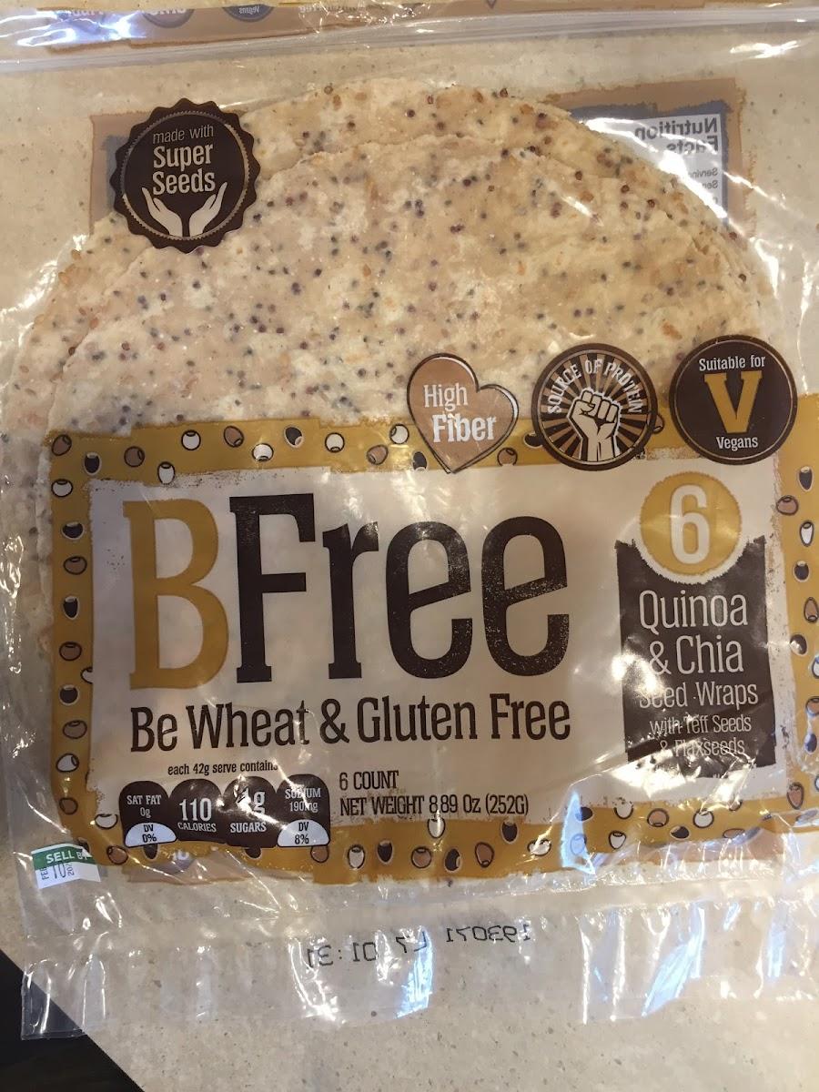 Quinoa & Chia Seed Wraps