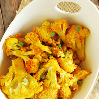 Quick and Easy Roasted Cauliflower (Gluten Free).