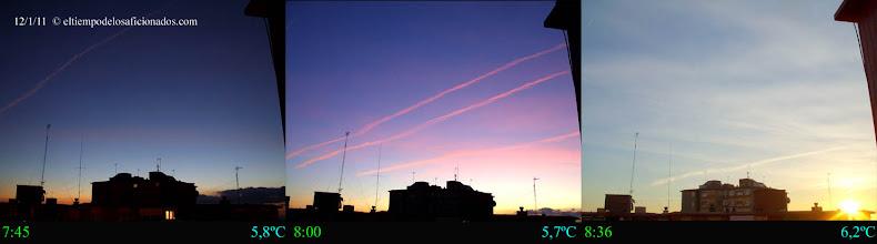 Photo: Amanecer del día 12/01/11