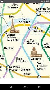 Paris Subway 2017 Map - náhled