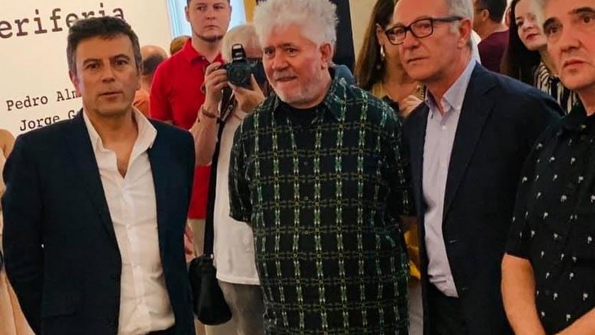 Doctor, junto a Pedro Almodóvar, el ministro José Guirao y Jorge Galindo hace unos días en el CAF.
