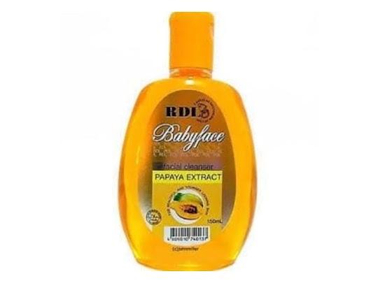facial cleanser papaya ekstrak pepaya rdl pembersih kulit wajah membersihkan make up memutihkan flek