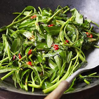 Stir Fried Spinach.