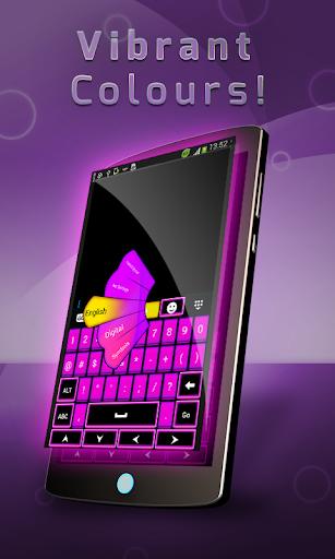 紫色霓虹燈鍵盤
