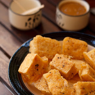 Pan fried tofu with peanut sauce- By Dassana of Veg Recipes of India
