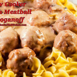 Slow Cooker Meatball Ranch Stroganoff #SundaySupper