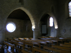 Photo: The main church area has the small windows and heavy architecture typical of Romanesque churches of this era. Note that because I try to avoid the use of flash in historical buildings, the compromise is sometimes less than perfect clarity of the shots.