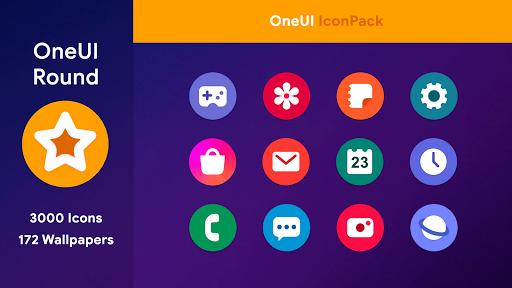 oneui 3 - round icon pack screenshot 1