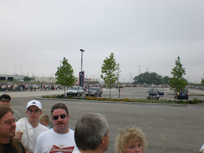 Photo: Looooong line to get in