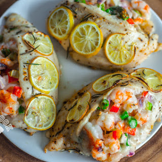 Shrimp & Veggie Stuffed Chicken Breast Recipe