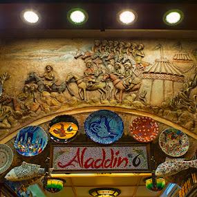 Aladdin Souvenir Shop, Spice Bazaar by Sefanya Dirgagunarsa - Products & Objects Signs