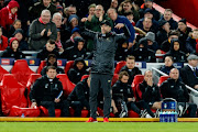 Head coach Juergen Klopp of FC Liverpool gestures during the UEFA Champions League Round of 16 First Leg match between Liverpool and FC Bayern Muenchen at Anfield on February 19, 2019 in Liverpool, England.