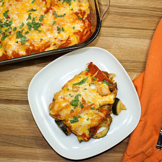 Cheesy Vegetable Enchilada Casserole