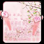 Pink Beauty Peach Blossom Keyboard Theme