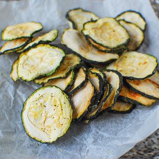 Baked Lemon Pepper Zucchini Chips
