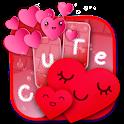 Cute Hearts Keyboard Design icon
