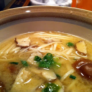 Miso Soup with Pork and Udon.