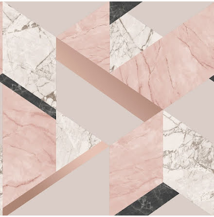 Marblesque Geometrisk Marmor tapet