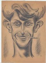 Photo: Автошарж ВПН,  карандаш, 20 х 28 см, конец 1930-х