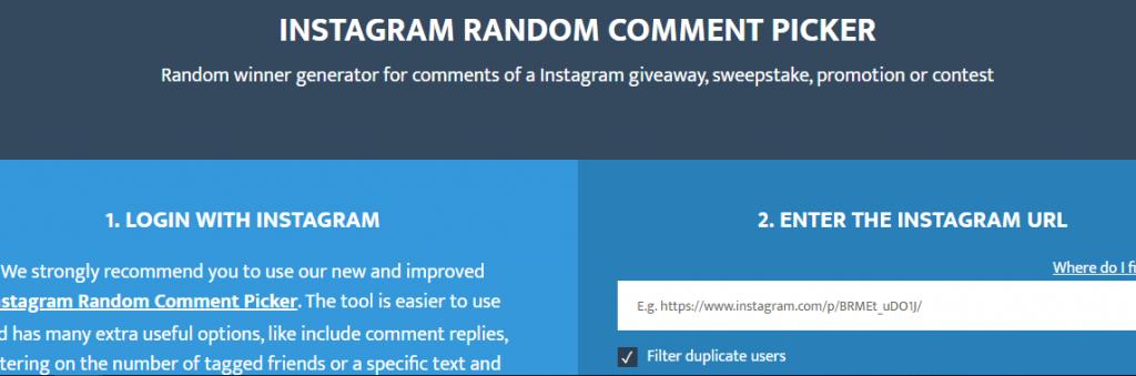Sélecteur aléatoire de concours Instagram
