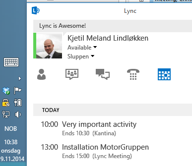how to connect lync to outlook