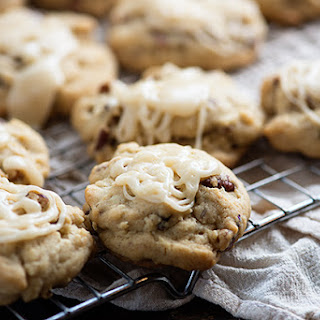 Browned Butter Glazed Pecan Cookies