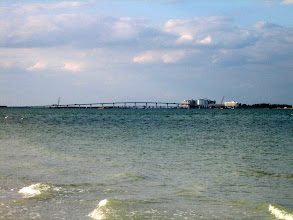 Photo: The causeway which connects Sanibel Island and Fort Myers Beach.