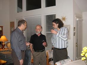 Photo: PROFESORS MAREK KAMINSKI AND THOMAS SCHWARTZ, AND GRADUATE STUDENT REUBEN KLINE