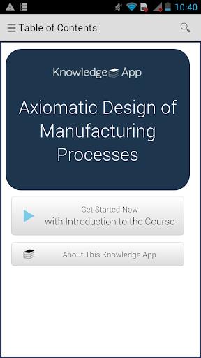 Axiomatic Design Manufacturing