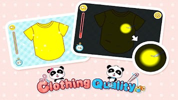 Screenshot of Clothing Quality - for kids